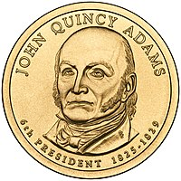 Presidential Dollar of John Quincy Adams.