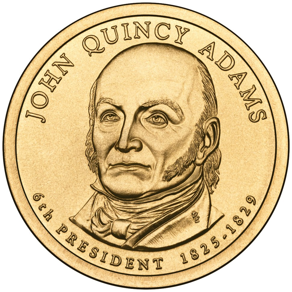 John Quincy Adams Presidential $1 Coin obverse