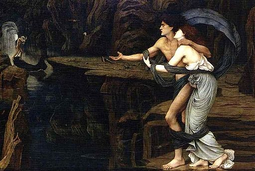John Roddam Spencer Stanhope - Orpheus and Eurydice on the Banks of the Styx, 1878