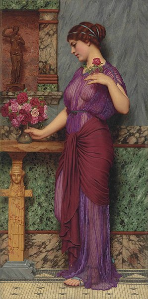 File:John William Godward - An Offering to Venus.jpg