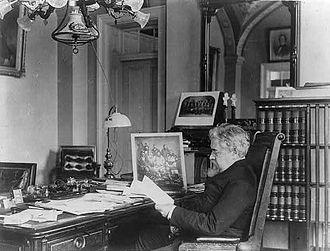 John Willock Noble - John W. Noble in his office.