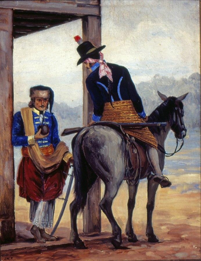 Soldado da Legião Paulista na Cisplatina e Gaúcho