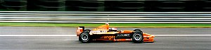 Jos Verstappen - Verstappen testing for the Arrows team at the Monza circuit in 2000.