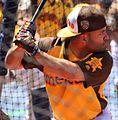Jose Altuve takes batting practice on Gatorade All-Star Workout Day. (28044767474).jpg