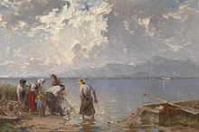 Josef Wopfner fishing family at the Chiemsee.jpg