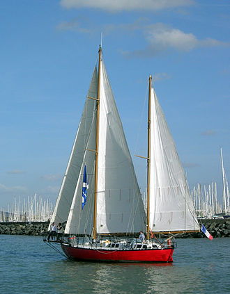 Bernard Moitessier - Moitessier's boat Joshua in 2006 in La Rochelle.