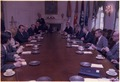 Josip Tito and Jimmy Carter hold a meeting between U.S. and Yugoslavian officials. - NARA - 178246.tif
