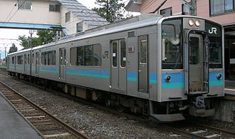 E127 series - Matsumoto-based E127-100 series set A8 on the Oito Line in August 2009