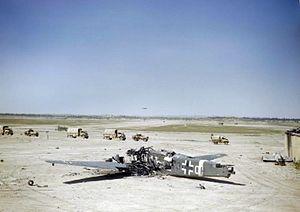 Ju 52 wreck at Gabes airfield 1943.jpg
