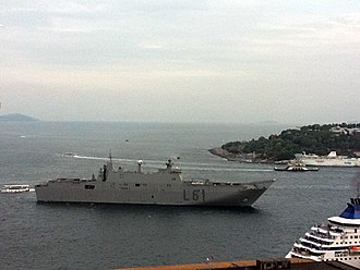 Spanish ship Juan Carlos I - Juan Carlos I in Istanbul, Turkey, May 2011