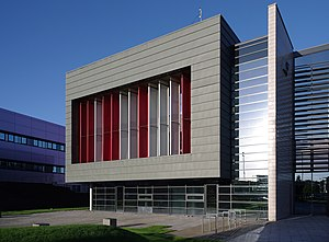 Geospatial analysis - The Nottingham Geospatial Building on the University of Nottingham's Jubilee Campus.