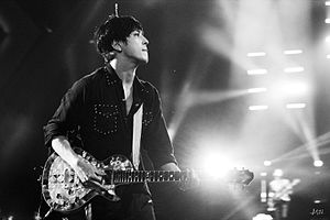 "2gether (CNBLUE album) - Jung Yong-hwa performing at the 2015 CNBLUE Live ""Come Together"" concert in Shanghai, China"
