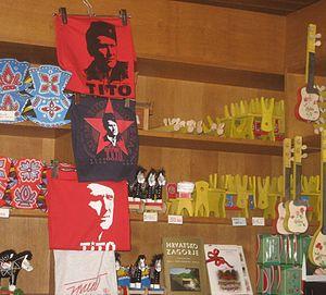 Yugo-nostalgia - T-shirts in Tito's birthplace Kumrovec, Croatia, in 2012