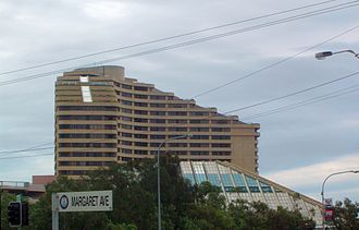 The Star Gold Coast - Building seen from Margaret Avenue