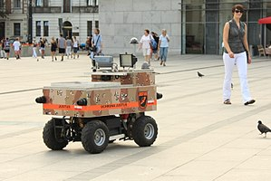 Telerobotics - Justus security robot patrolling in Kraków