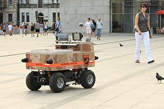 Telerobotics - Justus security robot patrolling in Kraków