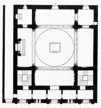 Glockengasse Synagogue - Floor plan of the Cologne Synagogue in the Glockengasse