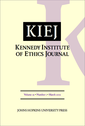 Kennedy Institute of Ethics Journal - Image: KIEJ Cover