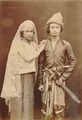 KITLV - 89955 - Lambert & Co. - A teukoe (knight) of the west coast of Aceh with his bride - circa 1880.tif