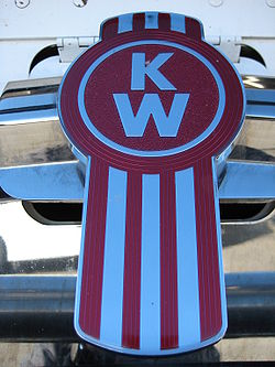 The Kenworth logo on the K104.