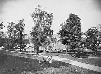 Kaisaniemi Park - Image: Kaisaniemenpuisto, Helsinki 1912 (2)