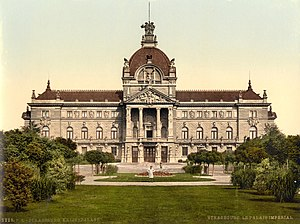 Palais du Rhin - On a postcard from 1900