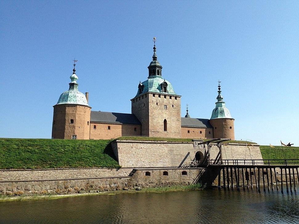Kalmar slott - Juli 2014 klarblå himmel