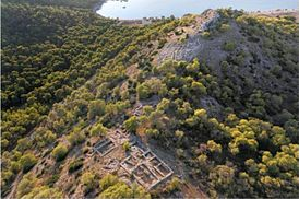 Mycenaean acropolis at Kanakia 13th century BC