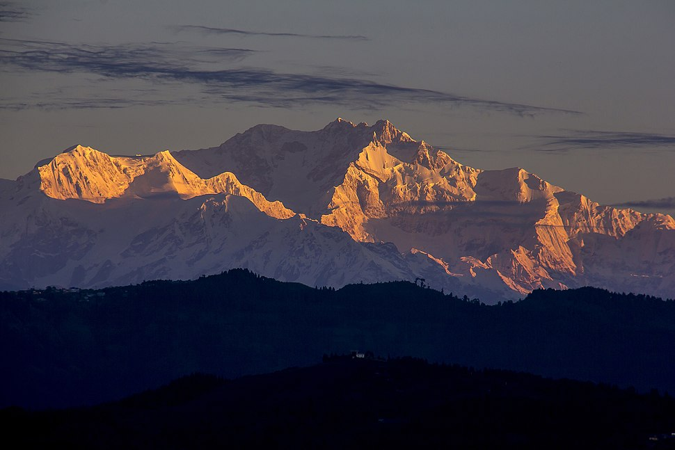 Kanchenjunga Shines as it gets first sunrays (By Saroj Pandey)