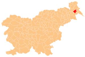 Municipality of Beltinci - Image: Karte Beltinci si
