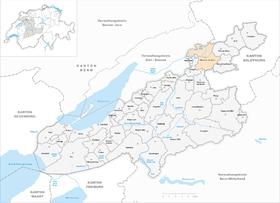 Karte von Büren an der Aare