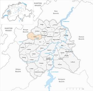 Noréaz - Image: Karte Gemeinde Noréaz 2007