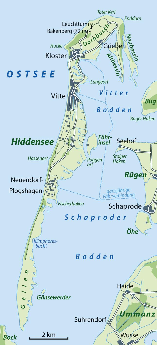 Karte Hiddensee