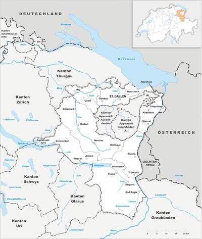 Map of St. Gallen