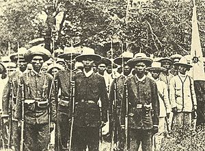 Katipunan - A late 19th century photograph of armed Filipino revolutionaries, known as the Katipuneros.