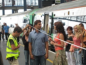 Akshay Kumar - Akshay Kumar and Katrina Kaif on the set of Namastey London