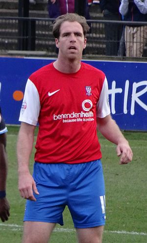 Keith Lowe (footballer) - Lowe playing for York City in 2014