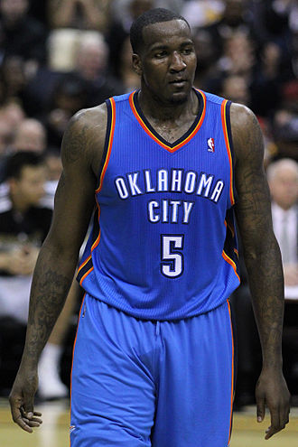 Kendrick Perkins - Perkins with the Oklahoma City Thunder in March 2011