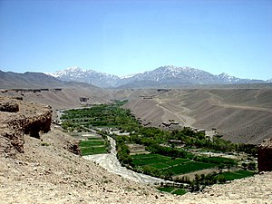 Logar Province - The main river valley in the Khoshi District of Logar province. Extensive irrigation and canal works, known as karez, provide water for the majority of the agriculture in southeastern Afghanistan.