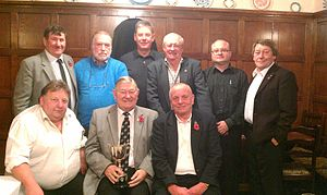 Kidsgrove - Kidsgrove Rotary with their second trophy of the year for winning the Rotary 1210 District Darts competition 2011
