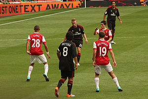 Ignazio Abate - Abate playing for Milan against Arsenal.