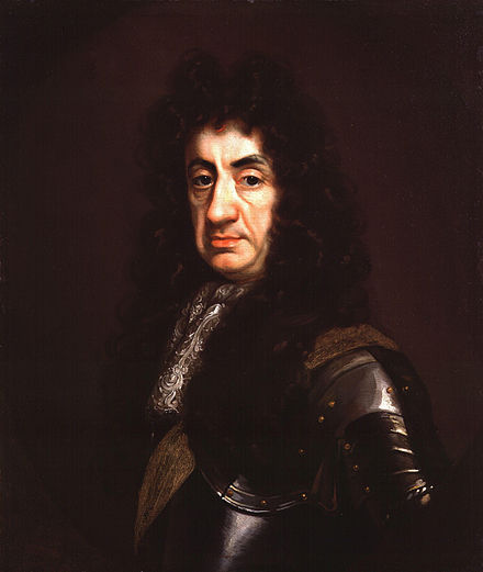 Portrait by John Riley, c. 1680-1685 King Charles II by John Riley.jpg