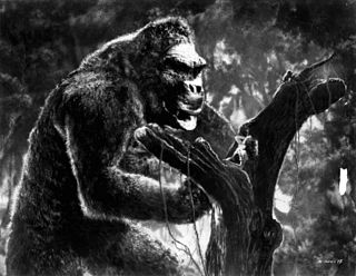 King Kong Fictional character, a giant movie monster resembling a colossal gorilla