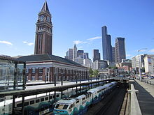 King Street Station And Skyline. The Architecture Of Seattle ...