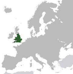 Kungariket Englands territorium.