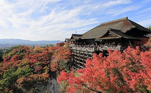 Main Hall of Kiyomizu-dera, Kyoto, Japan, part of UNESCO World Heritage Site Ref. Number 688.