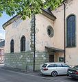 Klagenfurt Benediktinerplatz Marienkirche NW-Teilansicht 09092015 7257.jpg