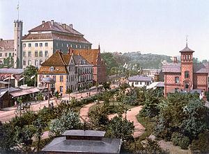 Kiel Castle - Kiel Castle (left rear) about 1900