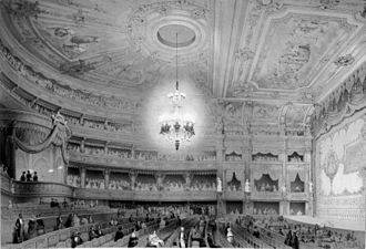 Berlin State Opera - Interior, rebuilt after the fire in 1843
