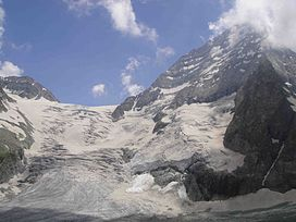 Kolahoi Glacier andMt.Kolahoi(5425m) North view -the highest mountain in Kashmir valley.JPG